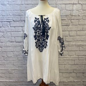 Chic Connection CC White Embroidered Mini Dress
